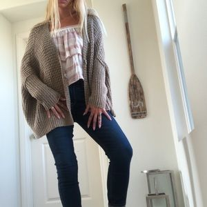 Baggy knit free people cardigan
